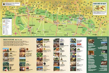 Turistička karta kutjevačkog vinogorja
