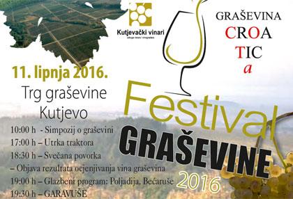 Festival graševine 2016. - najava