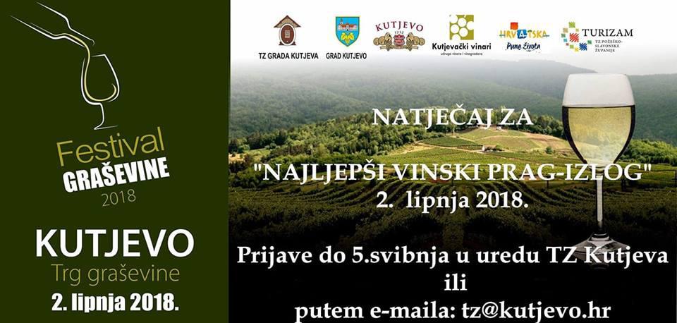 Natječaj za najljepši vinski prag - izlog
